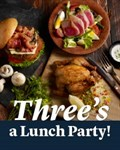 Three's a Lunch Party