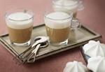 Coffee Custard with caramel milk froth