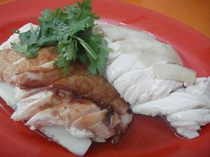 Roast and white chicken