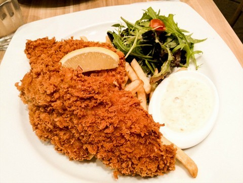 Breaded Fish & Chips ($15)