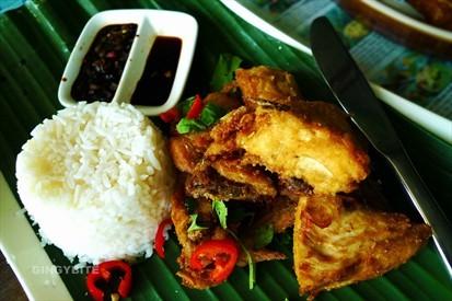 twice cooked pandan lemongrass kampong chicken